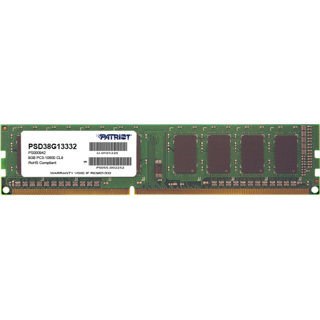Patriot Memory Signature DDR3 8GB CL9 PC3-10600 (1333MHz) DIMM PSD38G13332