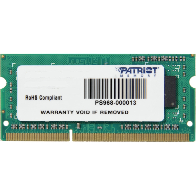 Patriot Memory DDR3 Signature Line 4GB PC3-10600 (1333MHZ) SoDIMM PSD34G133381S