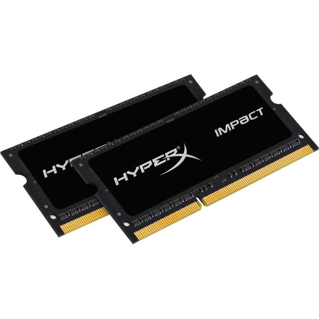Kingston Impact SODIMM - 16GB Kit* (2x8GB) - DDR3L 1866MHz CL11 SODIMM HX318LS11IBK2/16