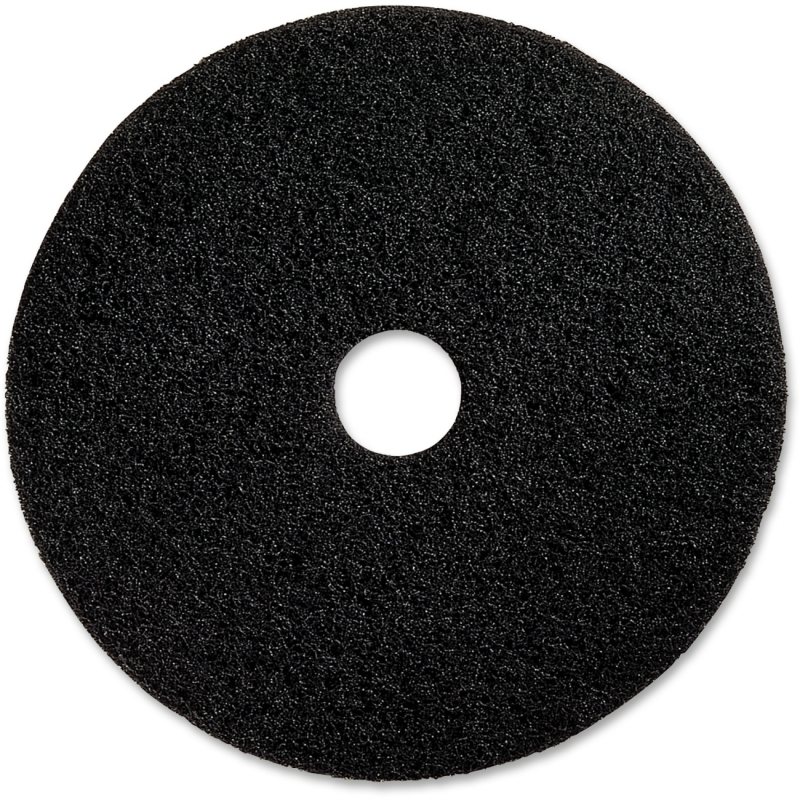 "Genuine Joe 17"" Black Floor Stripping Pad 90217 GJO90217"