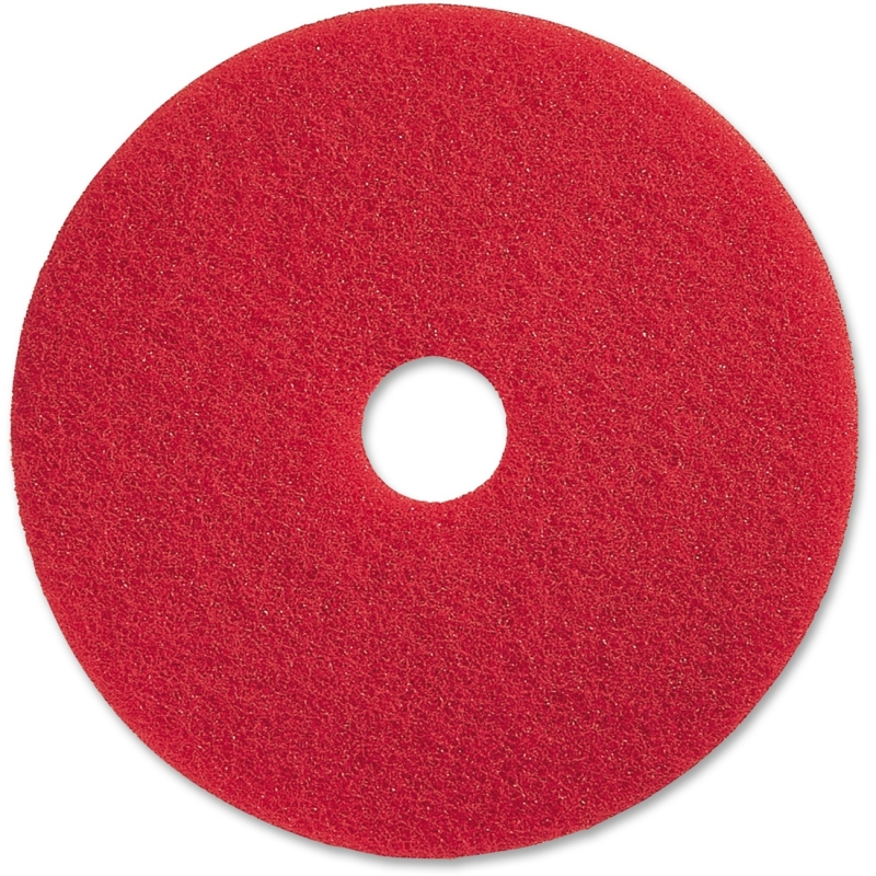 "Genuine Joe 17"" Red Buffing Floor Pad 90417 GJO90417"