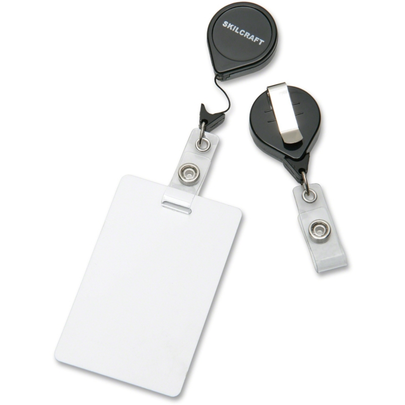SKILCRAFT Retractable ID Card Reel 8455-01-545-3657 NSN5453657