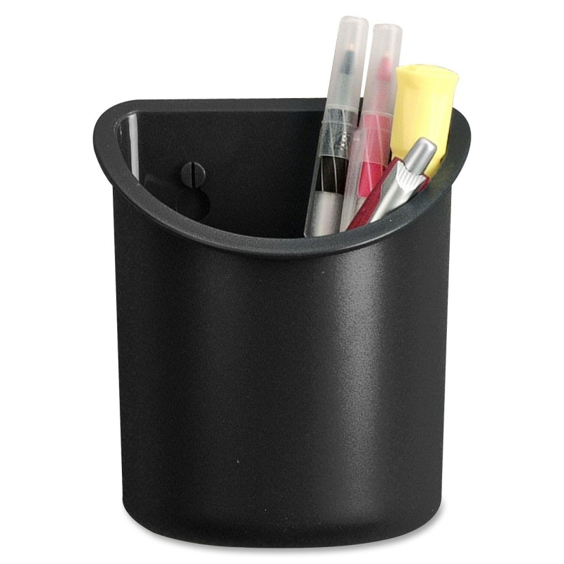 Lorell Recycled Plastic Mounting Pencil Cup 80668 LLR80668
