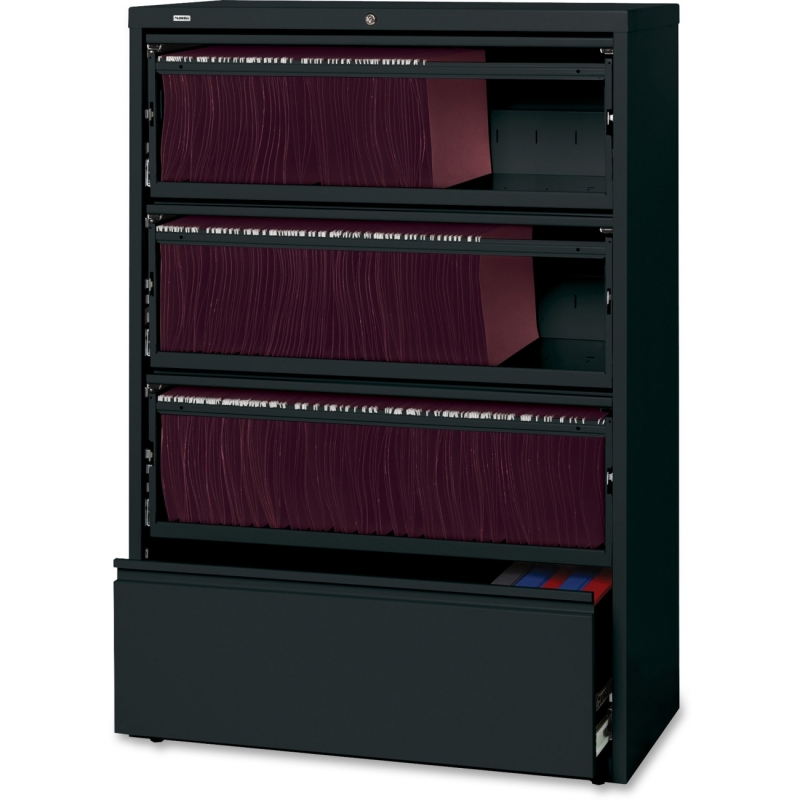 Lorell Receding Lateral File with Roll Out Shelves 43511 LLR43511