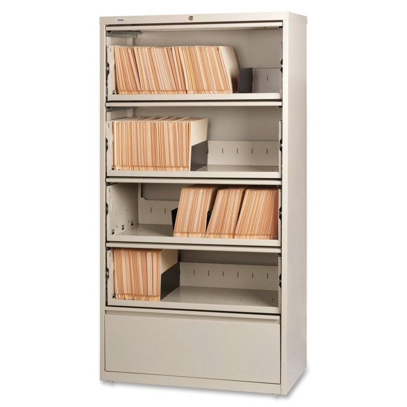 Lorell Receding Lateral File with Roll Out Shelves 43512 LLR43512