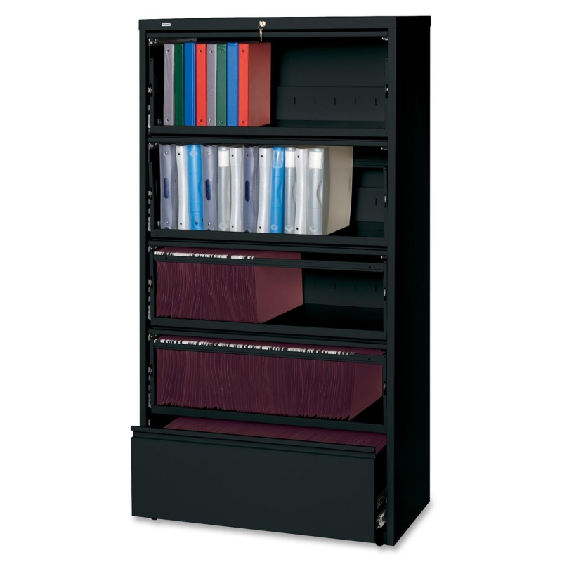 Lorell Receding Lateral File with Roll Out Shelves 43513 LLR43513