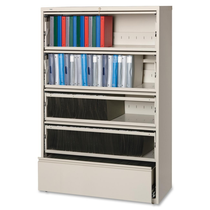 Lorell Receding Lateral File with Roll Out Shelves 43516 LLR43516