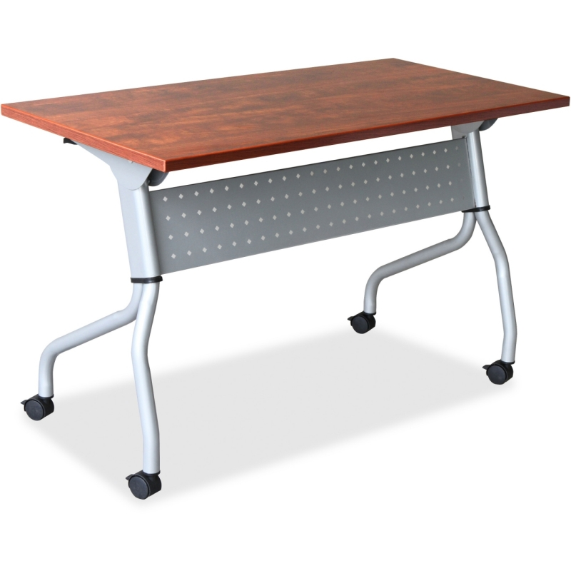 Lorell Cherry Flip Top Training Table 60720 LLR60720