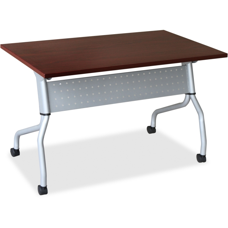 Lorell Mahogany Flip Top Training Table 60722 LLR60722