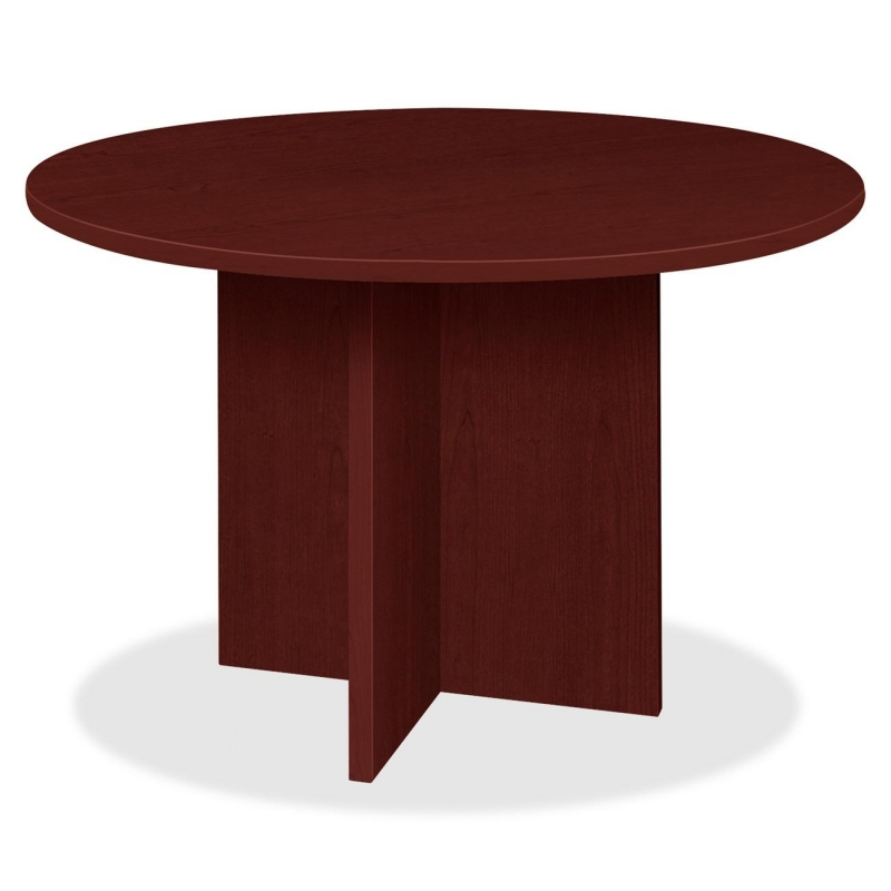 Lorell Prominence 79000 Series Mahogany Round Conference Table 79127 LLR79127