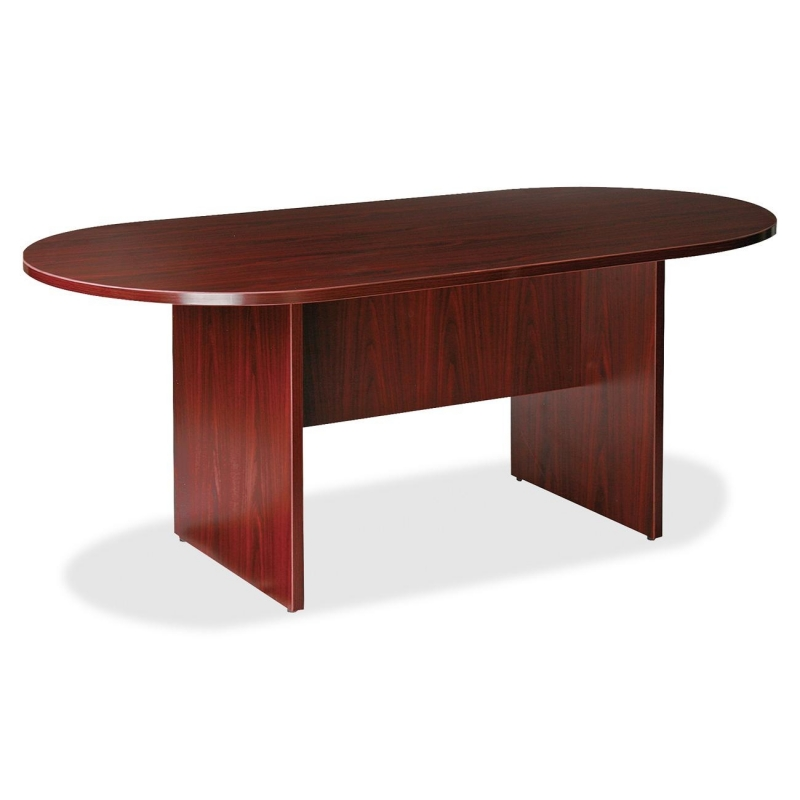 Lorell Prominence 79000 Series Mahogany Round Conference Table 79128 LLR79128