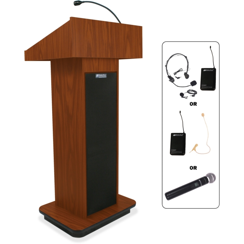 AmpliVox Wireless Executive Sound Column Lectern SW505 APLSW505