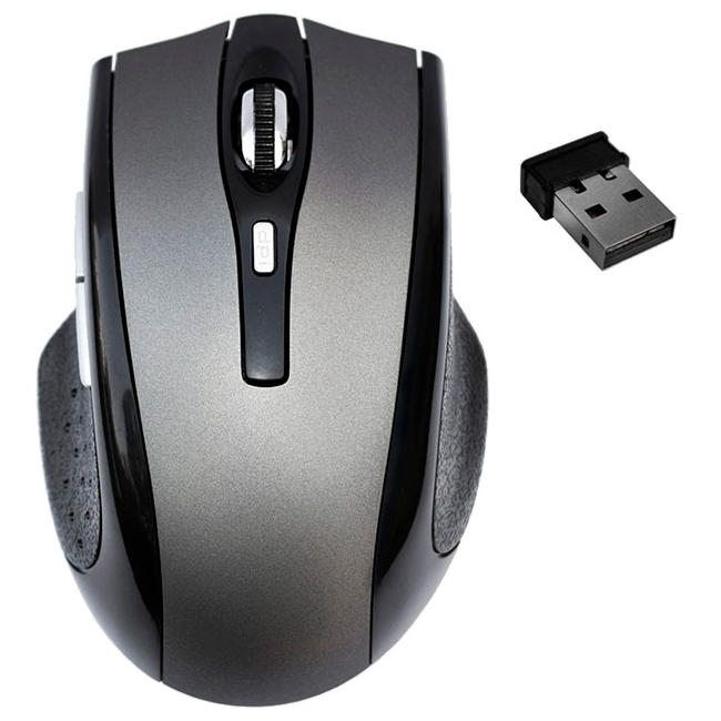 Premiertek 5 Buttons Wireless Cordless Optical Scrolling Wheel Mouse WM-103GY