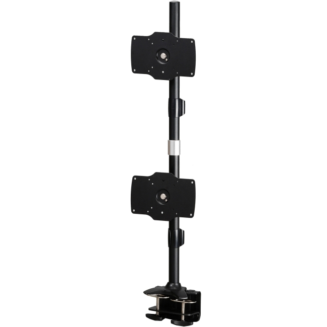 "Amer Mounts Clamp Based Vertical Dual Monitor Mount. Up to 32"", 26.5lb monitors AMR2C32V"