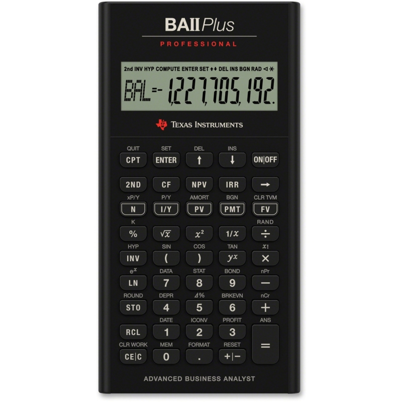 Texas Instruments BAII Plus Professional Calculator BA II PLUS PRO TEXBAIIPLUSPRO BAIIPlus PRO