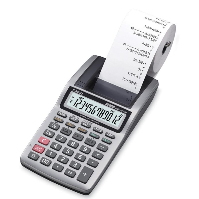 Casio Portable Printing Calculator HR8 CSOHR8TMPLUS