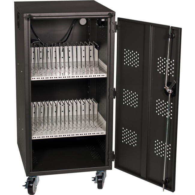 Hamilton Buhl 30 Bay Tablet, iPad and Chromebook Charging & Storage Cart LTAB-30