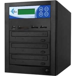EZdupe Media Mirror Multi-Format 3 Copy DVD/CD/SD/CF/MS/MMC/USB Duplicator MM03PIB