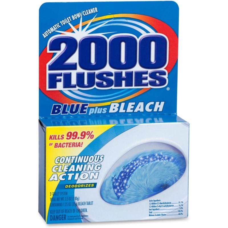 WD-40 2000 Flushes Toilet Bowl with Bleach & Blue Detergent 20801 WDF208017