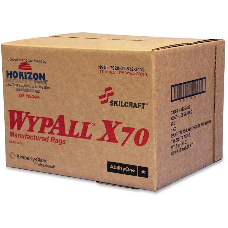 SKILCRAFT WypAll X70 Industrial Wipers 7920015122412 NSN5122412