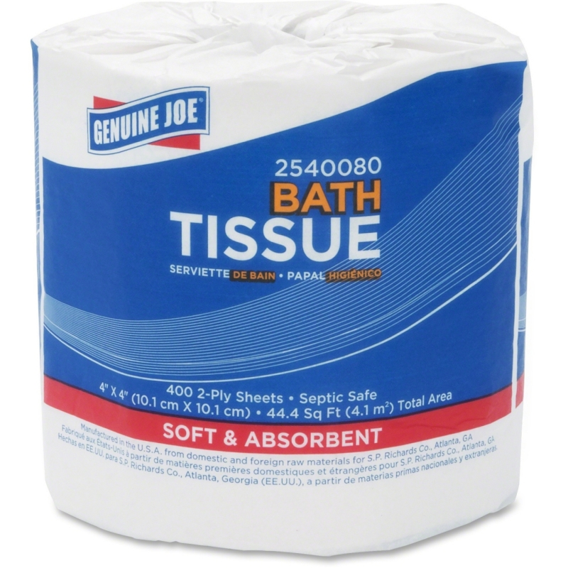 Genuine Joe 2-Ply Standard Bath Tissue Rolls 2540080 GJO2540080