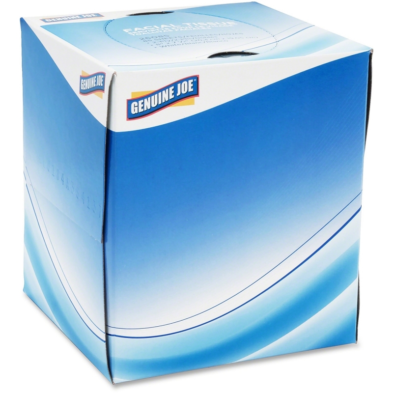Genuine Joe Cube Box Facial Tissue 26085 GJO26085
