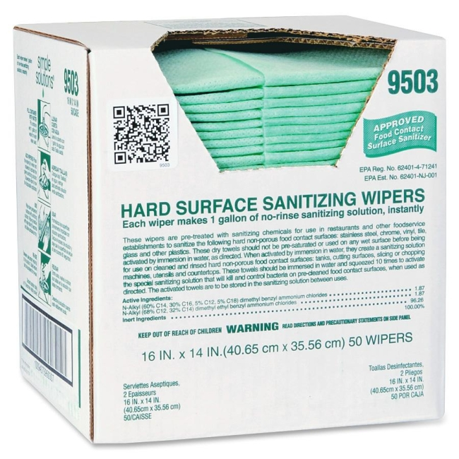 Atlantic Mills Simple Solutions Hard Surface Sanitizing Wipes 9503 ITW9503