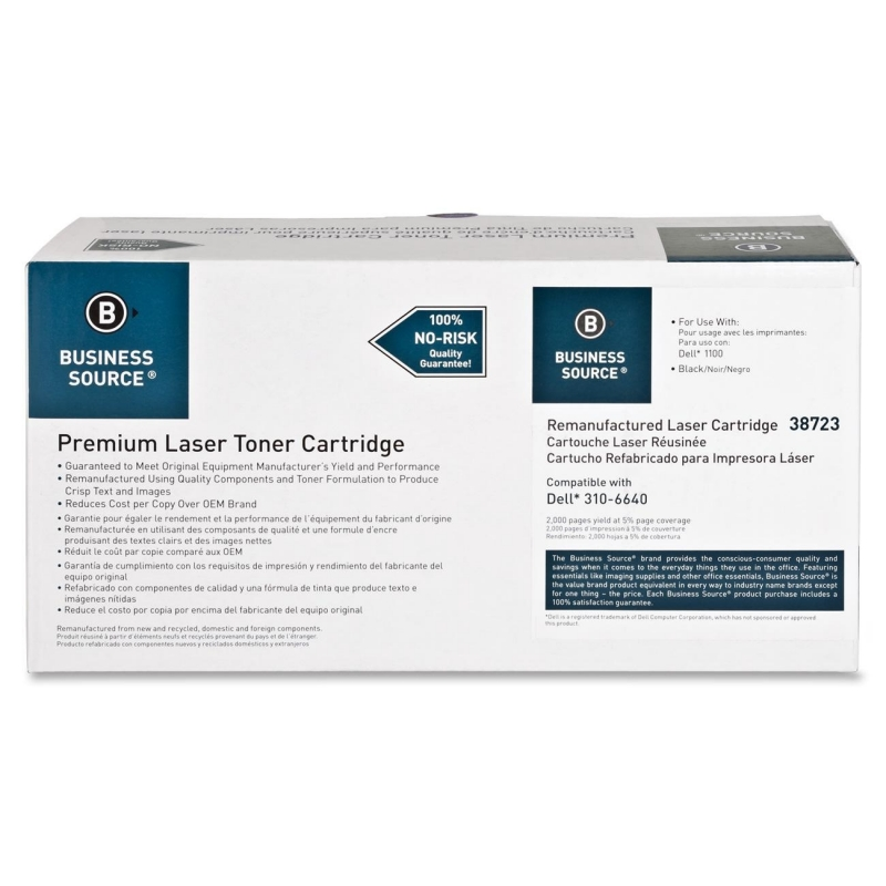 Business Source Remanufactured Toner Cartridge Alternative For Dell 310-7660 38723 BSN38723