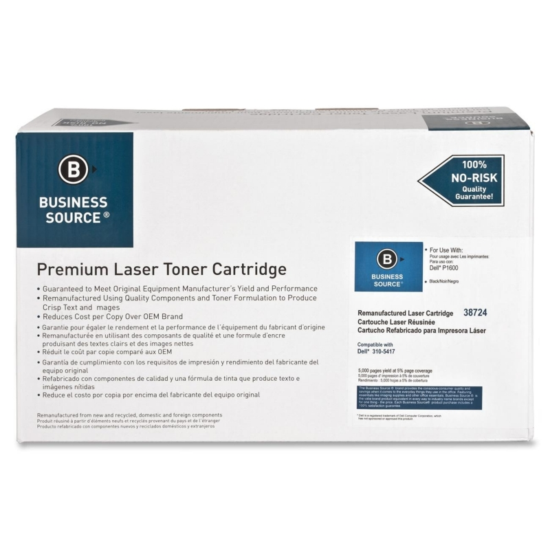 Business Source Remanufactured Toner Cartridge Alternative For Dell 310-5417 38724 BSN38724