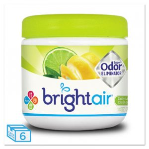 Bright Air Super Odor Eliminator, Zesty Lemon and Lime, 14 oz, 6/Carton BRI900248 900248
