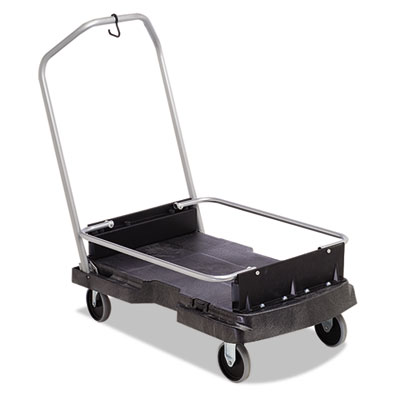 Rubbermaid Commercial Ice-Only Cart, 500-lb Cap, 21 2/5w x 39 1/10d x 15h, Black RCP9F55BLA FG9F5500BLA