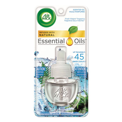Air Wick Scented Oil Refill, Fresh Waters, 0.67oz, Clear RAC79716CT 79716