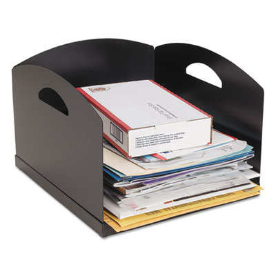 SteelMaster Big Stacker Inbox Desk Tray, Single Tier, 11 x 12 x 8, Black MMF264001H04 264001H04