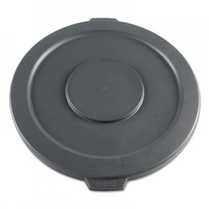 Boardwalk Lids for 32-Gal Waste Receptacle, Flat-Top, Round, Plastic, Gray BWK32GLWRLIDG 1868182