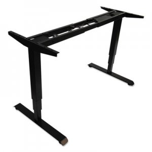 "Alera 3-Stage Electric Adjustable Table Base w/Memory Controls, 25"" to 50 3/4""H, Black ALEHT3SAB"