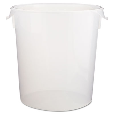 Rubbermaid Commercial Round Storage Containers, 22qt, 13 1/8dia x 14h, Clear RCP572824CLE FG572824CLR