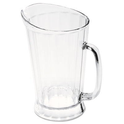 Rubbermaid Commercial Bouncer II Plastic Pitcher, 60 oz, Clear RCP3334CLE FG333400CLR