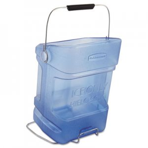 Rubbermaid Commercial Ice Tote, 5.5gal, Blue, With Hook Assembly RCP9F54TBL FG9F5400TBLUE