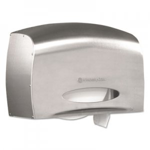Kimberly-Clark Coreless JRT Jr. Bath Tissue Dispenser, EZ Load, 6x9.8x14.3, Stainless Steel KCC09601 9601