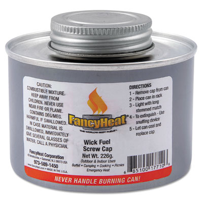 FancyHeat Chafing Fuel Can, Twist Cap Wick, 4 Hour Burn, 8 oz FHCF715 F715