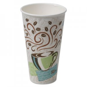 Dixie Hot Cups, Paper, 20oz, Coffee Dreams Design, 25/Pack, 20 Packs/Carton DXE5360CDCT DIX 5360CD