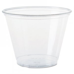 Dart Ultra Clear Cups, Squat, 9 oz, PET, 50/Bag, 1000/Carton DCCTP9R DCC TP9R