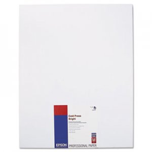 Epson Cold Press Bright Fine Art Paper, 17 x 22, Bright White, 25 Sheets EPSS042311 S042311