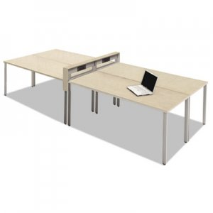 Safco Mayline e5 Four-Person Workstation with Beltway, 123-1/2w x 60d x 29-1/2h, Summer Suede MLNEZPW5AGY