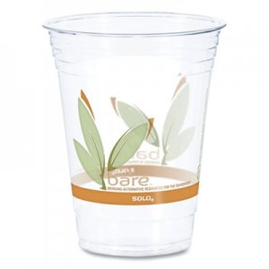 Dart Bare Eco-Forward RPET Cold Cups, 16-18 oz, Clear, 50/Pack, 1000/Carton DCCRTP16DBARECT DCC RTP16DBARE