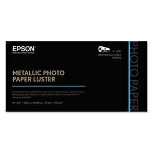 "Epson Professional Media Metallic Photo Paper Luster, White, 16"" x 100 ft Roll EPSS045592 S045592"