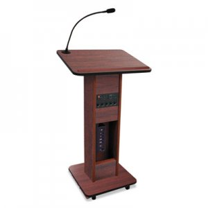 AmpliVox Elite Lecterns with Wireless Sound System, 24w x 18d x 44h, Mahogany APLSW355MH SW355MH