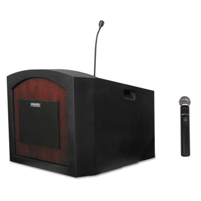 AmpliVox Pinnacle Tabletop Lectern, 26w x 23d x 20h, Mahogany APLSW3240MH SW3240-MH