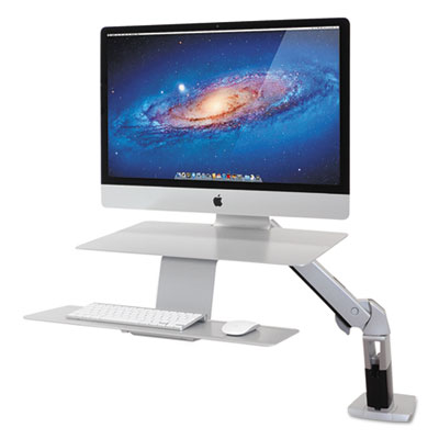 Ergotron WorkFit-A Sit-Stand Workstation, For Apple iMac Monitor, Silver ERG24414227 24-414-227