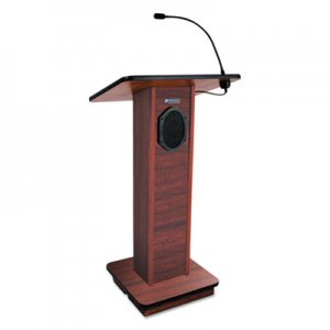 AmpliVox Elite Lecterns with Sound System, 24w x 18d x 44h, Mahogany APLS355MH S355-MH